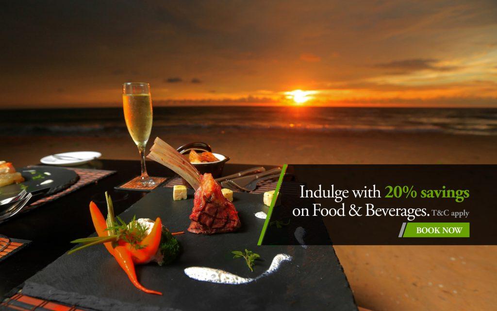 Indulge with 20% Saving on Food & Beverage