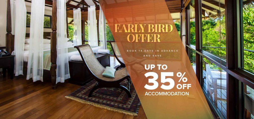 35% off Early Bird Offer