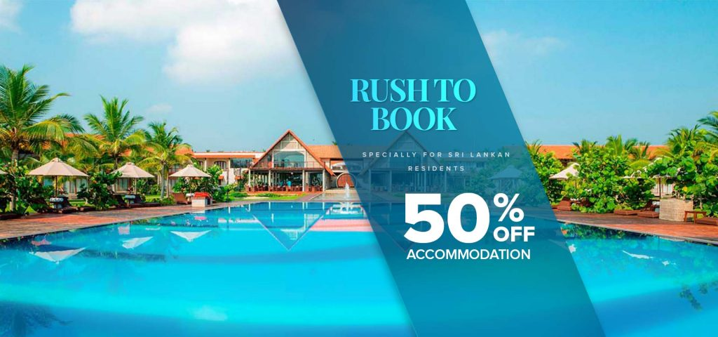 50% off Rush to book offer