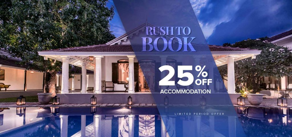 25% off Rush to Book Offer